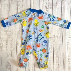 Under the Sea Theme Blue Footed One Piece Newborn